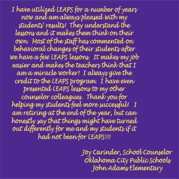 Joy Carinder, School Counselor (Oklahoma City Public Schools – John Adams Elementary)